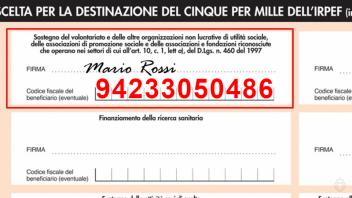 Immagine che mostra come compilare la dichiarazione dei redditi per devolvere il 5x1000 alla Fraternità San Pio X
