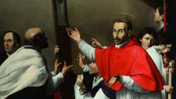 Carlo Saraceni - San Carlo Borromeo mostra la croce